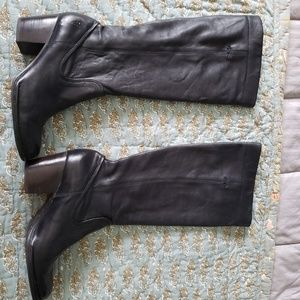 Frye Rory black leather scrunch knee boots 8M